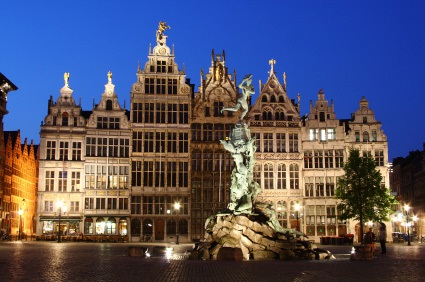 Admire the stately mansions and 16th-century guild houses of Antwerp