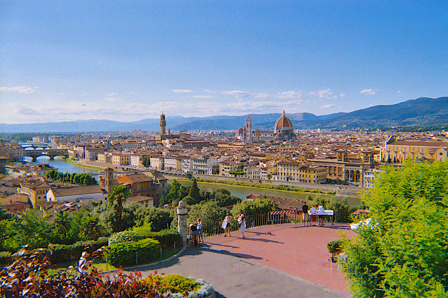 Panoramic view of Florence (magnificent Duomo of Brunelleschi)